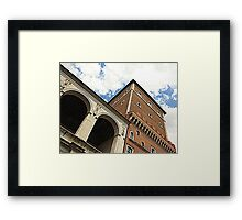 Slender tower top Framed Print