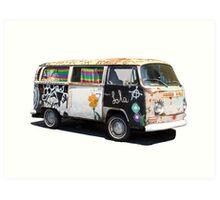 Hippie Van Art Print