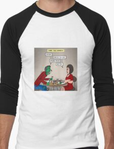 Zombie Table Manners Men's Baseball ¾ T-Shirt