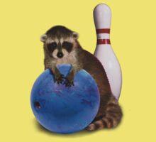 Bowling Raccoon Kids Clothes
