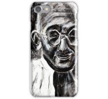 Mahatma Gandhi in Charcoal  iPhone Case/Skin