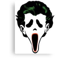 Ghostface Joker Canvas Print