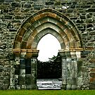 Ruins at Clonmacnoise, Ireland by Mary Fox