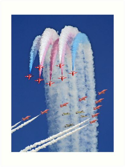"""Red Arrows And """"Eagle Squadron"""" Montage -  Duxford 26.05.2013 by Colin  Williams Photography"""