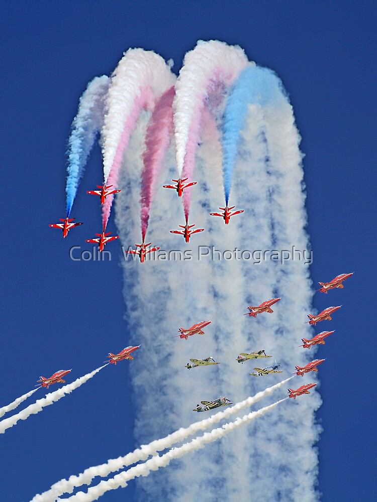"Red Arrows And ""Eagle Squadron"" Montage -  Duxford 26.05.2013 by Colin  Williams Photography"