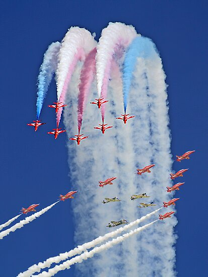 "Red Arrows And ""Eagle Squadron"" Montage -  Duxford 26.05.2013 by Colin J Williams Photography"