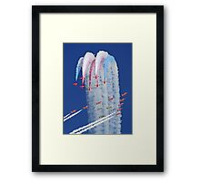 """Red Arrows And """"Eagle Squadron"""" Montage -  Duxford 26.05.2013 Framed Print"""