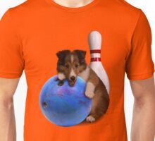 Bowling Sheltie Puppy Unisex T-Shirt