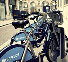Boris bikes, London by Alex Lagarejos