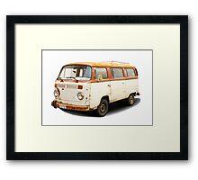 Old vw van Framed Print