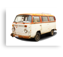 Old vw van Canvas Print