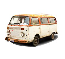 Old vw van Photographic Print