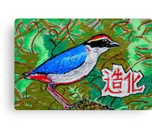Chinese Nature Fairy Pitta Good Fortune Canvas Print