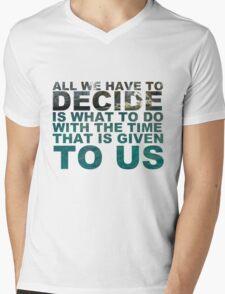 Gandalf quote Mens V-Neck T-Shirt