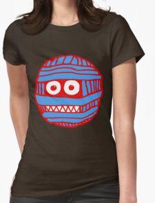 RED/BLUE MUM LOGO Womens Fitted T-Shirt