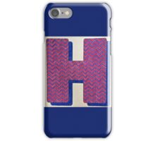 Letters of the alphabet  H iPhone Case/Skin