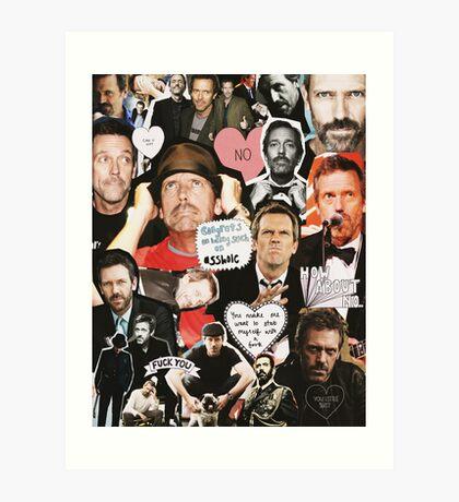 Hugh Laurie Collage Art Print