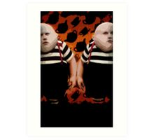 Alice in Wonderland Tweedledum and Tweedledee Multi-Layer Stencil Vector Art Print