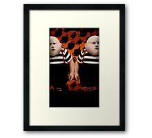 Alice in Wonderland Tweedledum and Tweedledee Multi-Layer Stencil Vector Framed Print
