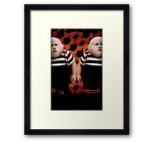 Alice in Wonderland Tweedledum and Tweedledee Multi-Layer Stencil Vector Framed Print