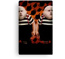Alice in Wonderland Tweedledum and Tweedledee Multi-Layer Stencil Vector Canvas Print