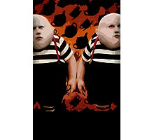 Alice in Wonderland Tweedledum and Tweedledee Multi-Layer Stencil Vector Photographic Print