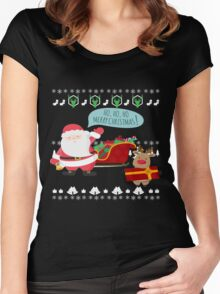 Ugly Christmas- Santa Ugly christmas sweat 1a Women's Fitted Scoop T-Shirt