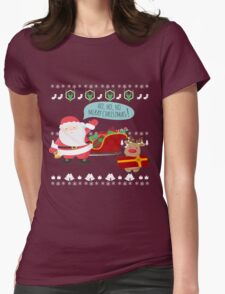 Ugly Christmas- Santa Ugly christmas sweat 1a Womens Fitted T-Shirt