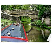 A snake bridge on the Macclesfield Canal, Cherhire, UK......! Poster