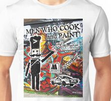 Men Who Cook with Logos Unisex T-Shirt