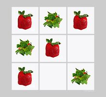 Strawberry Tic-Tac-Toe  by © Sophie W. Smith
