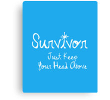 Surviving and Swimming Canvas Print