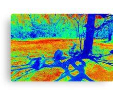 Heat Map Tree Canvas Print