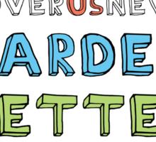 Harder, Better, Faster, Stronger v1 Sticker