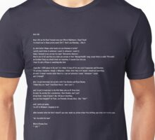 Jodi Letter in White Lettering Unisex T-Shirt