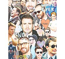 chris evans collage Photographic Print