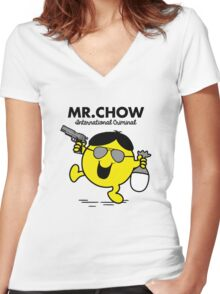 Mr. Chow Women's Fitted V-Neck T-Shirt