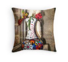 Mexican Vase  Throw Pillow