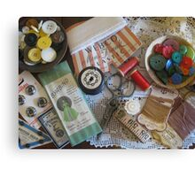 Sewing ephemera Canvas Print