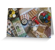 Sewing ephemera Greeting Card