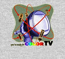 R U ready for Color TV?  Womens Fitted T-Shirt