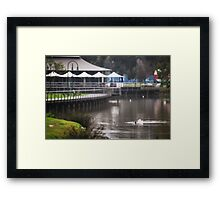 Winter's Quiet, Lake Weeroona Tea House Framed Print