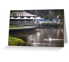 Winter's Quiet, Lake Weeroona Tea House Greeting Card