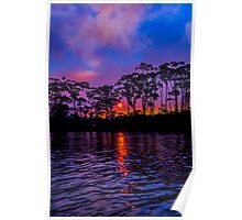 Sunset from Detention River Poster