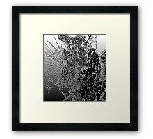 Pouring Disaster Framed Print