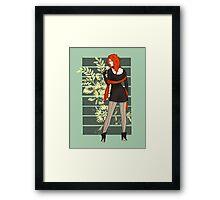 Red Flower Winter Pinup Framed Print