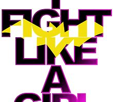 I Fight Like A Girl - Batgirl by minorbubbles