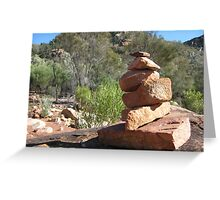 Bushwalker's sculpture Greeting Card