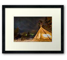 Aurora Tent Framed Print