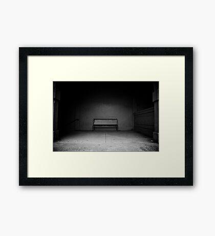 beelzebub's waiting room.  going down... Framed Print